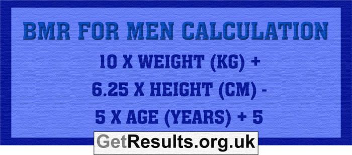 Get Results: BMR men calculation
