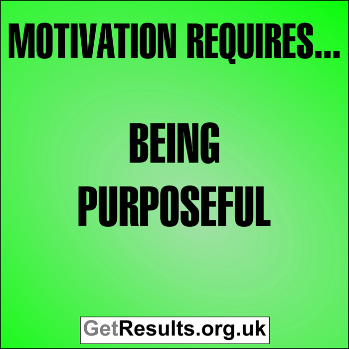Get Results: Motivation requires... being purposeful