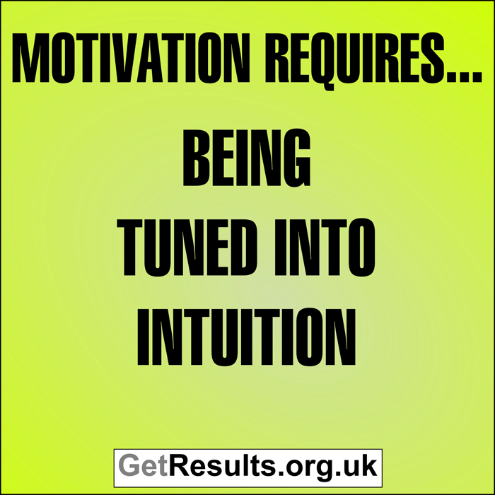 Get Results: Motivation requires...being tuned into intuition