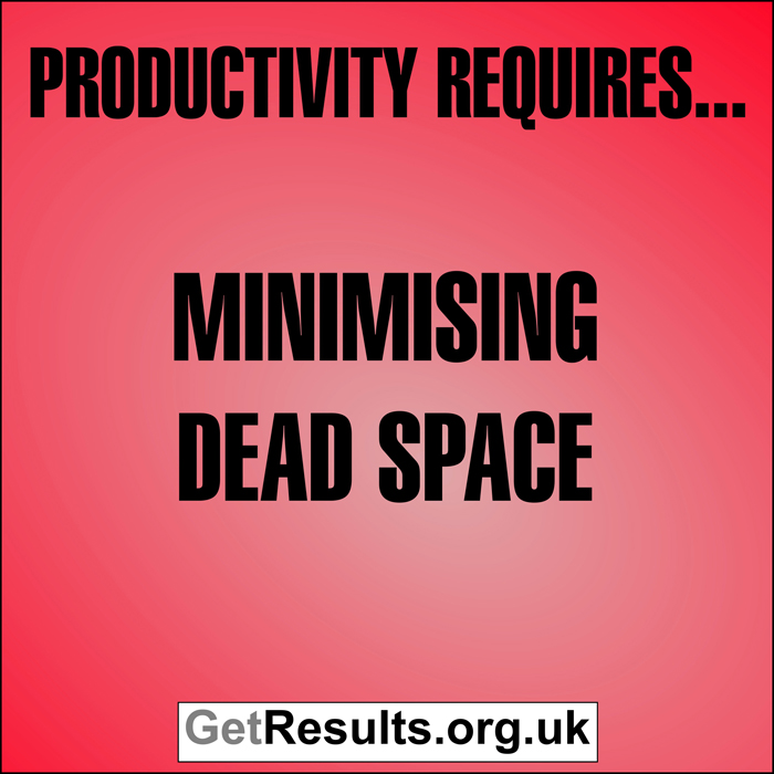 Get Results: Productivity requires minimising dead space