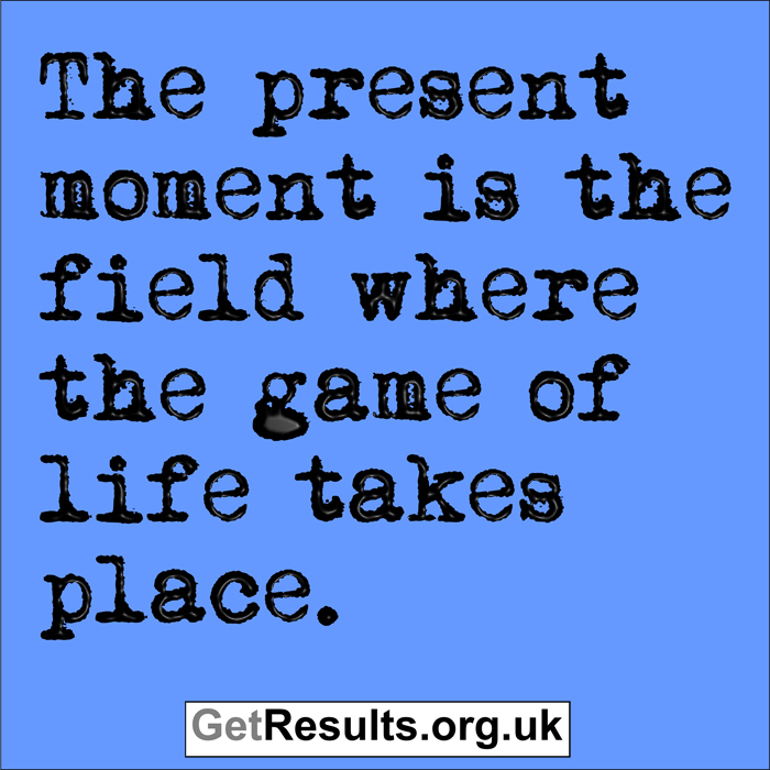 Get Results: this moment and the game of life