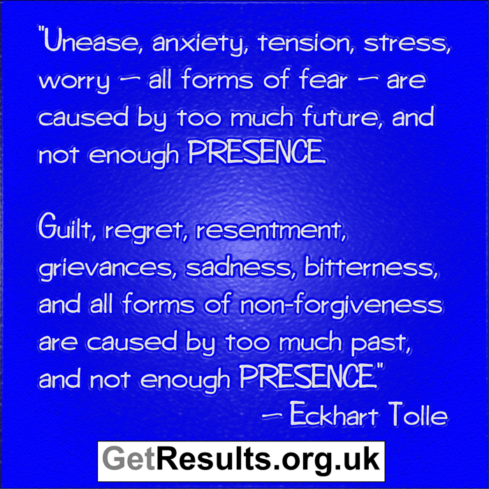 Get Results: Presence is the only time that really exists