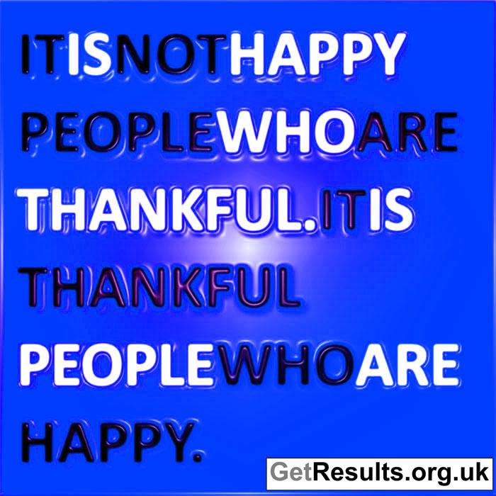 Get Results: Gratitude