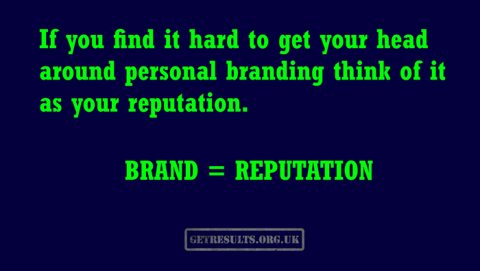 Get Results: brand is reputation