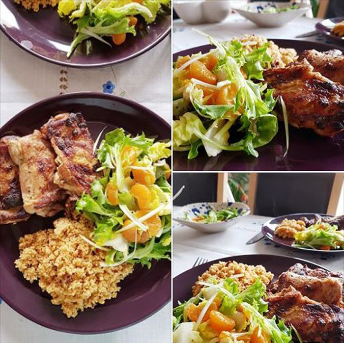 Get Results: Healthy Eating Grilled Chicken and Orange Salad Couscous