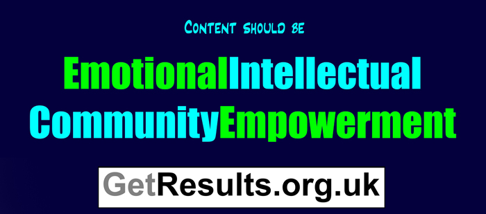Get Results: content is emotional intellectual graphic