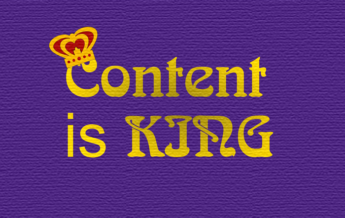 Get Results: content is king graphic