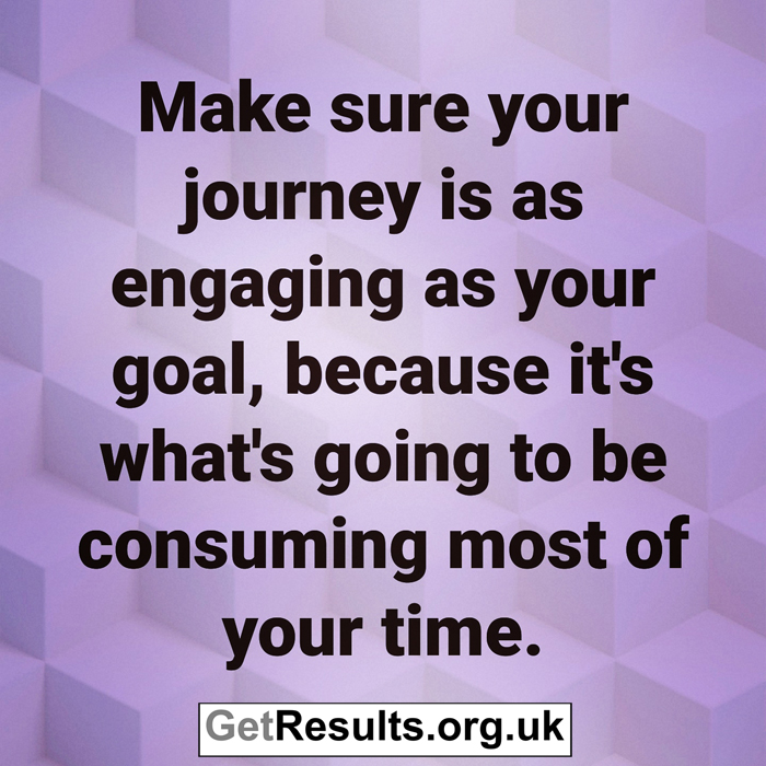 Get Results: make your journey as engaging as your goal